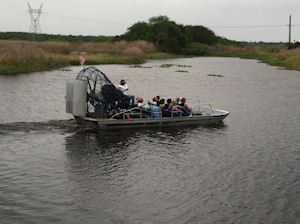 Transfer Pier  to Orlando Airport with Airboat tour in route